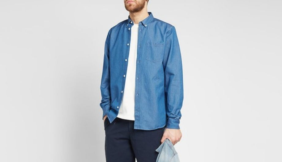 Norse Projects – Anton Button-Down Collar Denim Shirt