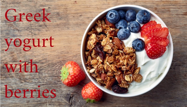 Greek Yogurt Berries Healthy Snack Cravings