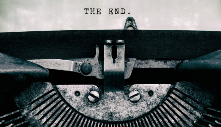 Movies Books Typewriter The End